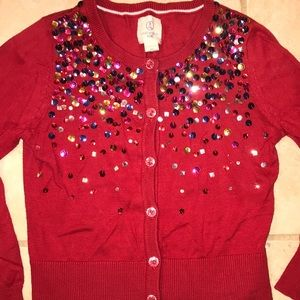 Land's End Kids sequins sweater 5-6